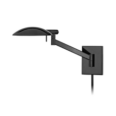 Modern Swing Arm Lamp in Gloss Black Finish