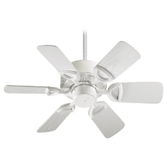 Quorum Lighting Estate Patio White Ceiling Fan Without Light