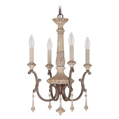 Capital Lighting Chateau French Oak Mini-Chandelier