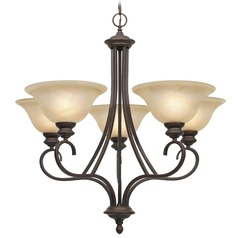 Golden Lighting Lancaster Rubbed Bronze Chandelier