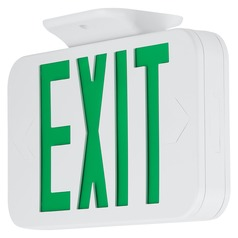 LED Exit Sign with Green Lettering by Progress Lighting