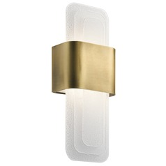 Art Deco Modern LED Sconce Natural Brass Serene by Kichler Lighting