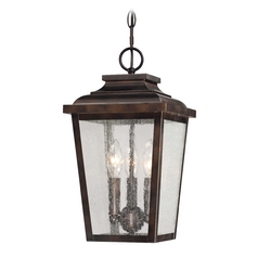 Outdoor Hanging Light with Clear Glass in Chelesa Bronze Finish