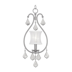 Livex Lighting Newcastle Brushed Nickel Mini-Pendant Light with Cylindrical Shade