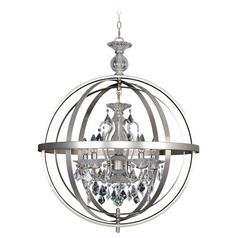 Allegri Catel 5-Light Chandelier in 2 Tone Stainless