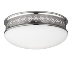 Feiss Lighting Devonshire Polished Nickel LED Flushmount Light