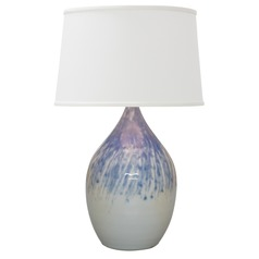 House Of Troy Scatchard Decorated Gray Table Lamp with Empire Shade