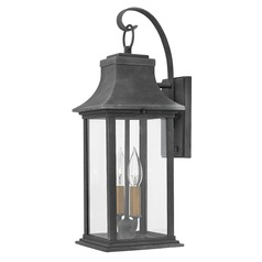 Outdoor Wall Lantern 2 Lt Aged Zinc by Hinkley Lighting