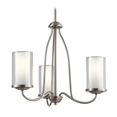 Transitional Mini-Chandelier Pewter Lorin by Kichler Lighting