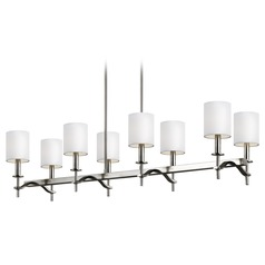 Feiss Lighting Hewitt Satin Nickel Island Light with Cylindrical Shade