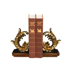 Cresting Leaf Decorative Bookend Set