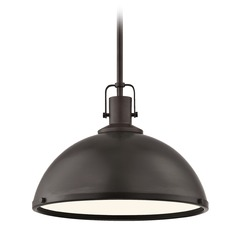 Nautical Bronze Pendant Light 13.38-Inch Wide
