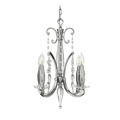 Mini-Chandelier in Polished Nickel Finish