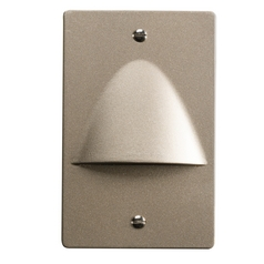 Kichler Lighting Step and Hall Light Brushed Nickel LED Recessed Step Light