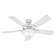 Hunter Fan Company Five Minute Fan White Ceiling Fan with Light