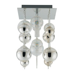 Eglo Morfeo Chrome Semi-Flushmount Light