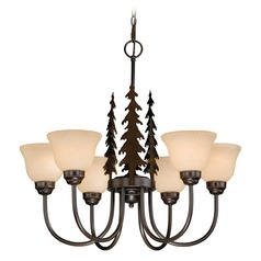 Yosemite Burnished Bronze Chandelier by Vaxcel Lighting
