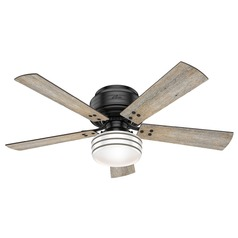 Hunter 52-Inch Matte Black LED Ceiling Fan with Light with Hand-Held Remote
