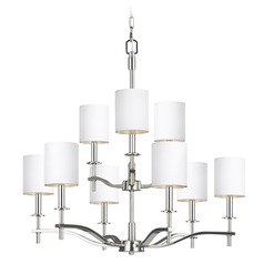 Feiss Lighting Hewitt Polished Nickel Chandelier