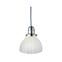 Hudson Valley Lighting Mini-Pendant Light with White Glass 3102-PN-444