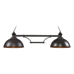 Island Light in Oiled Bronze Finish - 2 Lights