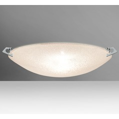 Besa Lighting Sonya Polished Nickel Flushmount Light