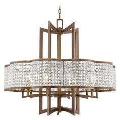 Livex Lighting Grammercy Hand Painted Palacial Bronze Pendant Light with Scalloped Shade