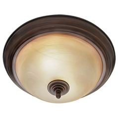 Golden Lighting Lancaster Rubbed Bronze Flushmount Light