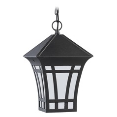Sea Gull Lighting Herrington Black Outdoor Hanging Light