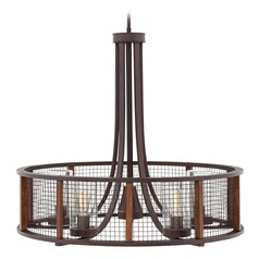 Farmhouse Seeded Glass Outdoor Chandelier Wire Cage Hinkley Lighting
