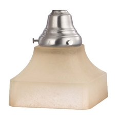 Design Classics Lighting Caramelized Square Craftsman Glass Shade - 2-1/4-Inch Fitter Opening G9415C