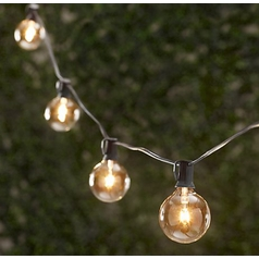 Vintage String Party Lights - 25-Feet/25 Sockets - Bulbs Included