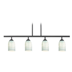 Modern Black Linear Pendant Light 4 Lt