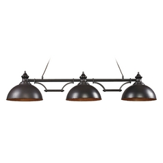 Island Light in Oiled Bronze Finish - 3 Lights
