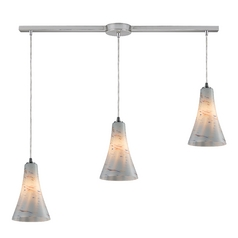 Elk Lighting Modern Multi-Light Pendant Light with White Glass and 3-Lights 10221/3L-whs
