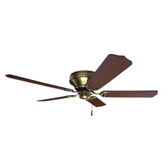 Craftmade Lighting Pro Contemporary Flushmount Antique Brass Ceiling Fan Without Light