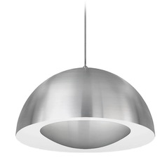 Modern Brushed Nickel LED Pendant 3000K 1000LM