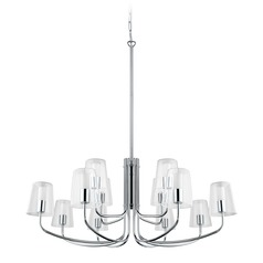 Eglo Noventa Chrome LED Chandelier