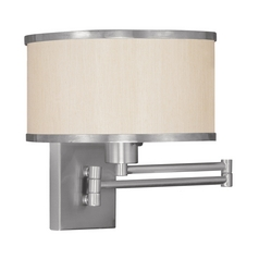 Livex Lighting Park Ridge Brushed Nickel Swing Arm Lamp