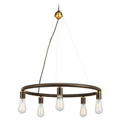 Progress Lighting Swing Antique Bronze Chandelier
