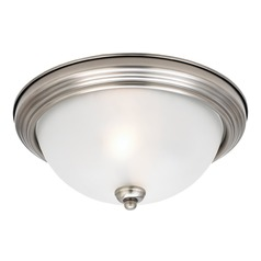 Sea Gull Lighting Ceiling Flush Mount Antique Brushed Nickel LED Flushmount Light