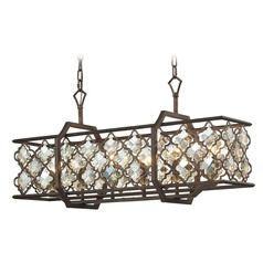 Elk Lighting Armand Weathered Bronze Island Light with Rectangle Shade