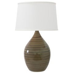 House of Troy Scatchard Tigers Eye Table Lamp with Empire Shade