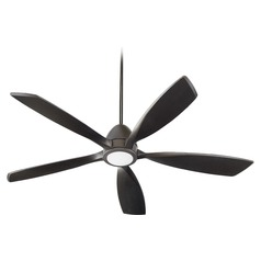 Quorum Lighting Holt Oiled Bronze LED Ceiling Fan with Light