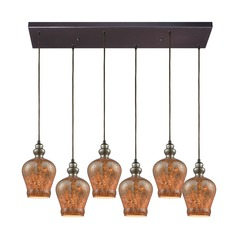 Sojourn Oil Rubbed Bronze Multi-Light Pendant with 6 Lights