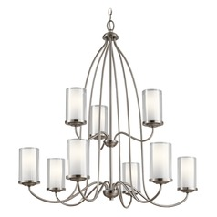 Transitional Chandelier Pewter Lorin by Kichler Lighting