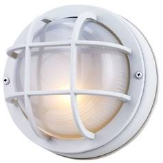 Design Classics Lighting 8-Inch Round Bulkhead Light 4512 WH