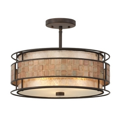 Laguna Mica Semi-Flushmount Ceiling Light