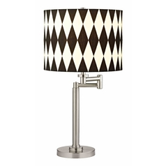 Design Classics Lighting Pauz Swing Arm Table Lamp with Harlequin Lamp Shade 1902-09 SH9491