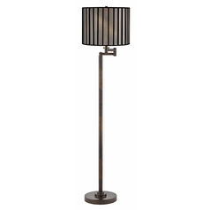 Design Classics Lighting Modern Swing Arm Lamp with Black Shade in Bronze Finish 1901-1-604 SH9548